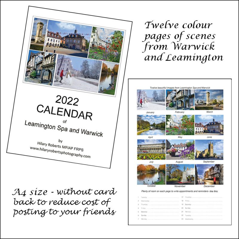 Calendar 2022 Twelve colour page scenes from Warwick and Leamington